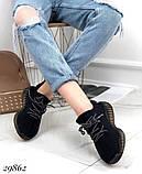 Кросівки жіночі чорні з текстилю, фото 4