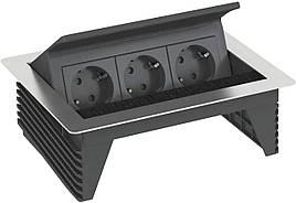 Розеточный блок с крышкой OBO Bettermann 3 розетки с кабелем 3 м (6116800)