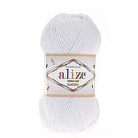 Alize Cotton Gold Hobby (Алізе Котон Голд Хобі) № 55 білий (Пряжа бавовна, нитки для в'язання)