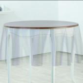 Прозрачная клеенка для защиты тканевой скатерти, деревянных столов, подоконников