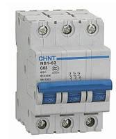 Автоматический выключатель NB1-63 3P 6KA D 63A СНІNT