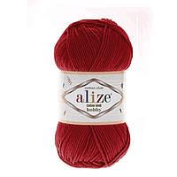 Alize Cotton Gold Hobby (Алізе Котон Голд Хобі) № 56 червоний (Пряжа бавовна, нитки для в'язання)