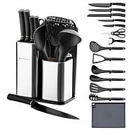 EB-3615 Набор кухонный на подставке (ложки, ножи, доска)