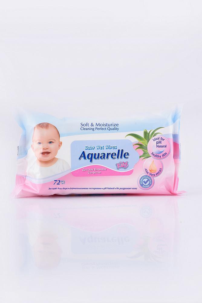 Aquarelle Kids Дитячі вологі серветки