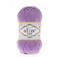 Alize Cotton Gold Hobby (Алізе Котон Голд Хобі) № 43 бузковий (Пряжа бавовна, нитки для в'язання)