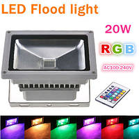 Светодиодный LED прожектор RGB 20Вт IP65 220В