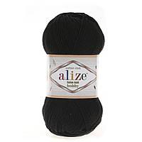 Alize Cotton Gold Hobby (Алізе Котон Голд Хобі) № 60 чорний (Пряжа бавовна, нитки для в'язання)