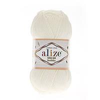 Alize Cotton Gold Hobby (Алізе Котон Голд Хобі) № 62 молочний (Пряжа бавовна, нитки для в'язання)