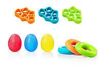 Набір кистьових еспандерів 9шт для пальців тарук 4FIZJO Еспандер-яйце Кільце Резинки (4FJ0133)
