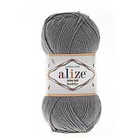 Alize Cotton Gold Hobby (Алізе Котон Голд Хобі) № 87 темно-сірий (Пряжа бавовна, нитки для в'язання)
