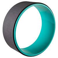 Колесо-кольцо для йоги фитнеса и пилатеса World Sport Бирюзово-чорный (8515)
