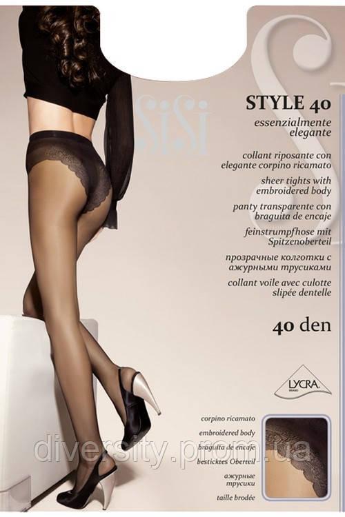 Колготки с ажурными трусиками Style 40 den