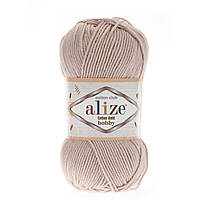 Alize Cotton Gold Hobby (Алізе Котон Голд Хобі) № 161 пудровий (Пряжа бавовна, нитки для в'язання)