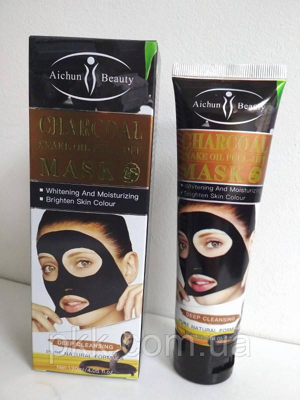 Маска-плівка для обличчя Aichun Beauty Charcoal Snake Oil чорна очищаюча 120 мл AC31977