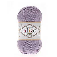 Alize Cotton Gold Hobby (Алізе Котон Голд Хобі) № 166 ліловий (Пряжа бавовна, нитки для в'язання)