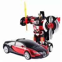 Машинка Трансформер Bugatti Robot Car Size 18 КРАСНАЯ | Машинка на радиоуправлении