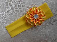 Повязка для волос с цветами