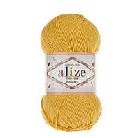 Alize Cotton Gold Hobby (Алізе Котон Голд Хобі) № 216 жовтий (Пряжа бавовна, нитки для в'язання)