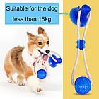 ОПТ Багатофункціональна іграшка для собак канат на присосці з м'ячем, фото 4