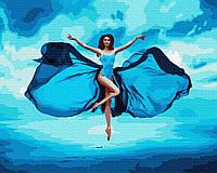 "Картина для рисования по номерам на холсте ""Как бабочка"" GX39129, 40х50 см"