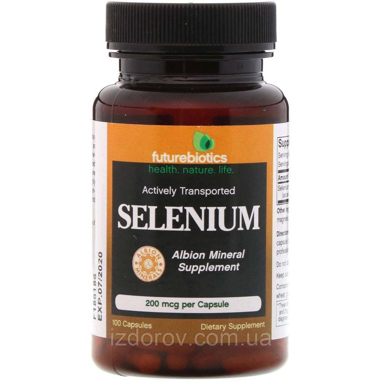 FutureBiotics, Селен 200 мкг, Selenium,100 капсул