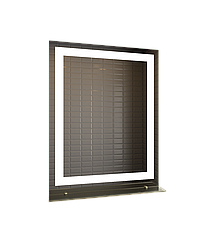 Зеркало LED (60*80*2,5см) VZ-AL-D27 с полкой