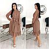 Шифоновое женское платье мокко миди (3 цвета) ЕФ/-12617