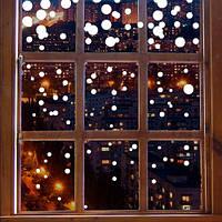 Набор виниловых новогодних наклеек Снег (снежинки, декор окон, наклейки на стекло, новогодние стикер, фото 1
