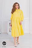 Ярусное платье-рубашка батальных размеров, фото 3
