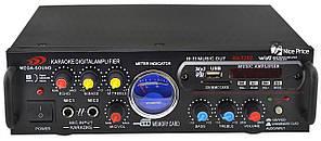 Підсилювач Mega Sound AV-339B 2х500W USB MP3 FM караоке (1779)