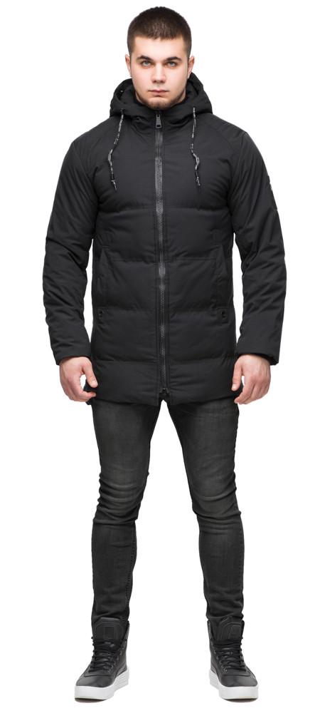 Куртка чоловіча молодіжна на хутрі зимова колір чорний модель 25400 (ЗАЛИШИВСЯ ТІЛЬКИ 54(XXL))