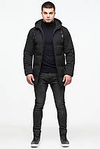 Куртка удобная мужская зимняя чёрного цвета модель 25400 (ОСТАЛСЯ ТОЛЬКО 54(XXL)), фото 3