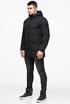 Куртка удобная мужская зимняя чёрного цвета модель 25400 (ОСТАЛСЯ ТОЛЬКО 54(XXL)), фото 2