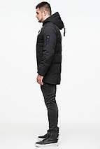 Куртка чоловіча молодіжна на хутрі зимова колір чорний модель 25400 (ЗАЛИШИВСЯ ТІЛЬКИ 54(XXL)), фото 3