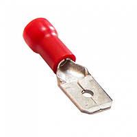 Клемма ножевая MDD1.25-187(5) (штекер) 4.8мм вилка изолированная, 0.5-1.5мм², красная, 100шт/1уп, 500534