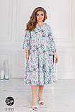 Стильное платье миди больших размеров, фото 2