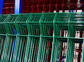 Парканна секція ELIT 820ммх2500мм Оцинкований дріт 4/4 мм + кольорове полімерне покриття RAL, фото 3