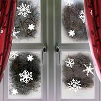 Набор новогодних наклеек на окно Снежинки (снег, наклейки на стекло, новогодний декор), фото 1