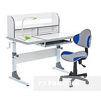 Комплект для школярів зростаюча парта Cubby Nerine Grey + стілець для школяра FunDesk LST3 Blue-Grey, фото 3