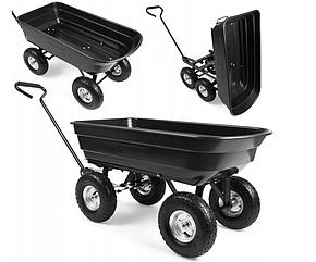 Садовий прицеп тележка 300 кг. тачка садовый инвентарь до трактора ATV