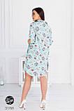 Женское платье-рубашка  батальных размеров, фото 2