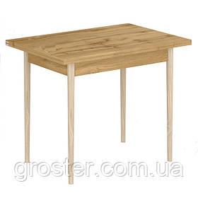 Кухонний простий стіл-5 з ніжками з натурального дерева