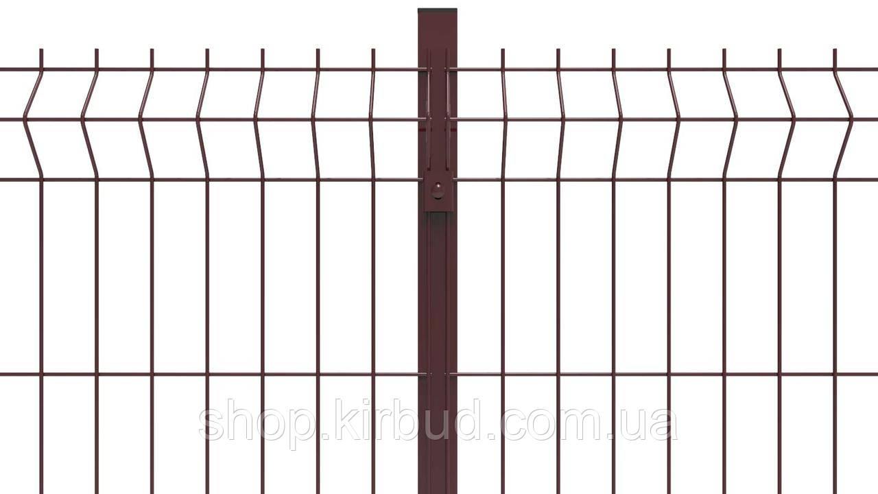 Заборная секция ELIT 820ммх3000мм  Оцинкованная проволока 4/4мм + цветное полимерное покрытие RAL