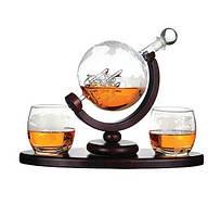 """Набор для виски со стаканами """"Вокруг света"""" 850 мл Гранд Презент 640014"""