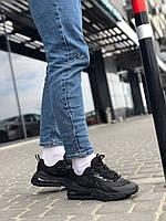 Чоловічі кросівки Air Max Чорні Текстильні, Репліка, фото 1