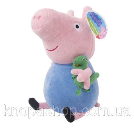 Мягкая игрушка Свинка   Джордж с динозавром 40 см