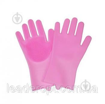 [ОПТ] Рукавички з щіткою для прибирання та миття посуду