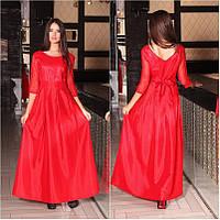 Платье красное из тафты
