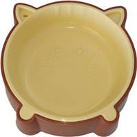 Миска для котов Animall S200 мл котенок P911 Коричневая (2000981188757)