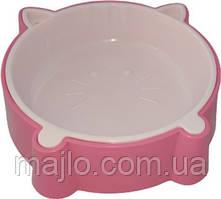 Миска для котов Animall S200 мл котенок P911 Розовая (2000981179939)